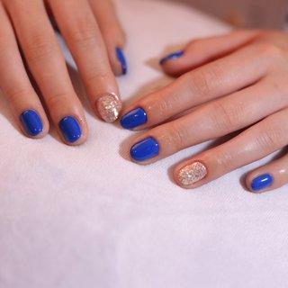 綺麗なブルーのsimple nail❤️ #綺麗なブルー #シンプルネイル #ブルーネイル #ラメ #ラメネイル #海 #夏 #夏 #オールシーズン #旅行 #海 #ハンド #シンプル #ラメ #ミディアム #ブルー #ジェル #お客様 #島根県出雲市✴︎チョコネイル✴︎ #ネイルブック