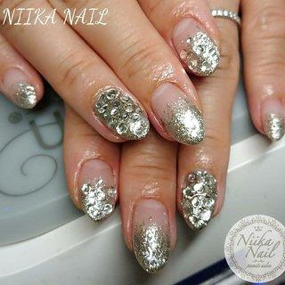 本日のお客様ネイル♡7/5 シルバーラメグラ×クリアストーン♪ #gel #gelnail #gelart #nail #nails #naildesign #nailart #nailartist #nailbook #glitternails #silvernails #stonenails #盛り盛りネイル #vカットストーンネイル #ゴテゴテネイル #ギラギラネイル #格安ネイル #夏ネイル #ジェルネイル #美甲 #niika_nail #板橋区中台 #志村三丁目 #ツヤツヤ #キラキラ #可愛い #シンプル #夏 #リゾート #パーティー #デート #ハンド #シンプル #グラデーション #ラメ #ビジュー #ショート #シルバー #ジェル #お客様 #Sa7e_Kurihara #ネイルブック