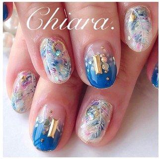 夏design💍♡ (スライド3枚目にMovie有💋♥︎)   #nails#nailart#feather#blue#bluenails#fashion#gelnails#cool#beauty#beautiful#cute#nailbook#naildesign#美甲#美爪#夏ネイル#夏コーデ#青ネイル#ブルーネイル#フェザーネイル#手描きアート#手描きネイル#フェザー#ネイルブック#ネイルデザイン#ネイル#chiaranails #春 #夏 #オールシーズン #リゾート #フェザー #ブルー #カラフル #YokoShikata♡キアラ #ネイルブック
