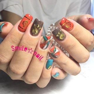 大田原定額ネイルサロン Smile☆nailのyukariです(*^^*) 7月はこのデザインが大人気でした❤️ カラフル夏色の天然石ネイル💅 ご来店ありがとうございます😊 ☆,。・:*:・゚'☆,。・:*:・゚'☆,。・:*:・゚' #smilenail #スマイルネイル #大田原市ネイルサロン #大田原市ネイル #大田原ネイルサロン #大田原ネイル #大田原定額ネイル #那須塩原ネイル #那須塩原ネイルサロン #ネイルサロン #西那須野ネイルサロン #お洒落ネイル #個性派ネイル #派手カワネイル #オーダーチップ #nailpic #美爪 #ミンネ #minne #nailbook #ネイリスト仲間募集 #ネイル好きな人と繋がりたい #天然石ネイル #夏色ネイル #ターコイズネイル ☆,。・:*:・゚'☆,。・:*:・゚'☆,。・:*:・゚' HPはプロフィールのURLから☆ #ネイルブック からご予約出来るようになりました❤️ ☆,。・:*:・゚'☆,。・:*:・゚'☆,。・:*:・゚' ラクマでピアス ミンネでネイルチップを販売してます ٩( ᐛ )و  ネイルチップ→ミンネ https://minne.com/5116ykr (スマイルネイルで検索‼︎) ピアス→ラクマ https://fril.jp/shop/Smile_bijou (スマイルビジュー ネイリストで検索‼︎) #夏 #リゾート #デート #女子会 #ハンド #フェザー #アンティーク #ボヘミアン #大理石 #ミディアム #オレンジ #ターコイズ #ブラウン #ジェル #お客様 #Smile☆nail #ネイルブック
