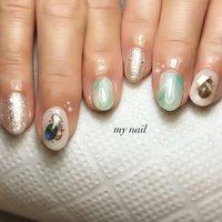 #夏 #ハンド #タイダイ #ニュアンス #my_nail #ネイルブック