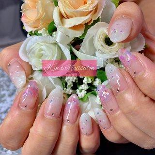 #紫陽花ネイル #春 #夏 #入学式 #ハンド #お客様 #みんくるママ #ネイルブック