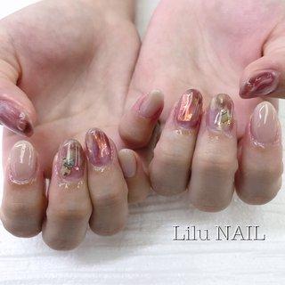 . #ニュアンスネイル #シェルネイル #プライベートネイルサロン  #金山ネイルサロン #nails  #gelnail #nailstagram #秋 #オールシーズン #デート #女子会 #ハンド #シェル #ニュアンス #ベージュ #ブラウン #ジェル #お客様 #LiLu Nail*RIHO #ネイルブック