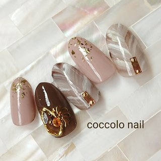 Instagram→coccolo_nail #秋 #冬 #coccolo_nail #ネイルブック
