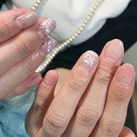 #オトナ可愛いネイル #ツィード柄ネイル#大人ネイル #秋ピンク#オフィスネイル #シェルネイル #Nail Salon Coffret #ネイルブック