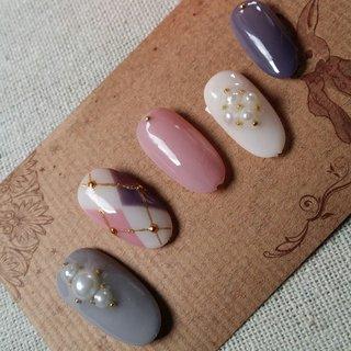 #アンティーク #アーガイル #nail garden... #ネイルブック