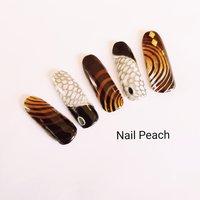 #モードネイル #秋 #Nail Peach #ネイルブック