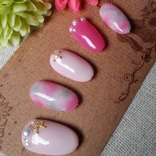 #春 #オフィス #デート #女子会 #ピンク #パステル #nail garden... #ネイルブック