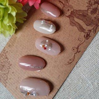 #オフィス #デート #女子会 #ベージュ #ピンク #グレージュ #ジェル #nail garden... #ネイルブック