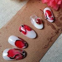 #ホワイト #レッド #ボルドー #ジェル #nail garden... #ネイルブック