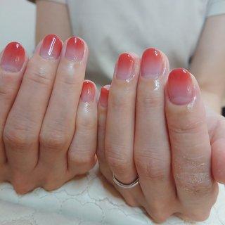 お客様ネイル #テラコッタ ピンク #カラーグラデーション #ピンク #オレンジ #ブラウン #palaunu #ネイルブック