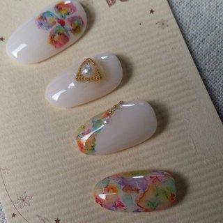 #たらしこみ #ジェル #nail garden... #ネイルブック