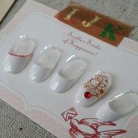 #フレンチ #ホワイト #レッド #ジェル #nail garden... #ネイルブック
