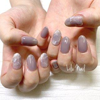 . #大理石ネイル #プライベートネイルサロン  #金山ネイルサロン #nails  #gelnail #nailstagram #オールシーズン #パーティー #デート #女子会 #ハンド #大理石 #グレー #ジェル #お客様 #LiLu Nail*RIHO #ネイルブック