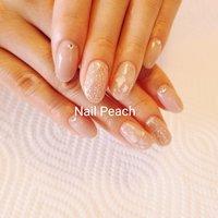 #Nail Peach #ネイルブック