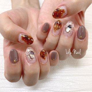 . #フットネイル #秋冬ネイル #ボルドー #プライベートネイルサロン  #金山ネイルサロン #nails  #gelnail #nailstagram #秋 #パーティー #デート #女子会 #ハンド #ブラウン #グレージュ #ジェル #お客様 #LiLu Nail*RIHO #ネイルブック