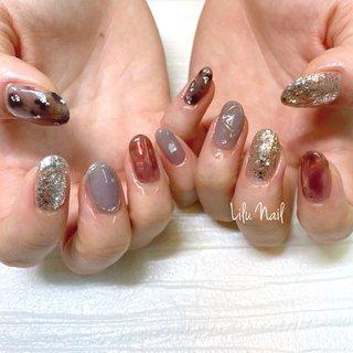 . #ニュアンスネイル #プライベートネイルサロン  #金山ネイルサロン #nails  #gelnail #nailstagram #オールシーズン #パーティー #デート #女子会 #ハンド #ニュアンス #クリア #ベージュ #ブラウン #ジェル #お客様 #LiLu Nail*RIHO #ネイルブック