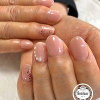 #シンプル #ミディアム #ピンク #お客様 #bonheur #ネイルブック