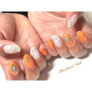 オレンジ×クロッシェ♡ . #nails #naildesign #nailart #instanails #instagood #color #orange #crochet #handpainted #turquoise #summernails #like4like #chaehwanail #ネイル#ネイルデザイン #クロッシェ #海 #クロッシェネイル #オレンジ #ターコイズ #カラー #川崎 #川崎ネイルサロン #네일#네일아트#네일스타그램#손스타그램 #여름네일 #아트 #페인트 . ご予約は↓からお願いします! *ネイルブックネット予約(プロフィールのURLから予約可能!) . お問い合わせは↓からお願いします! *LINE@ : @chaehwa_nail(@から検索) *Instagram DM : @chaehwa_nail . ご連絡お待ちしております(*´꒳`*)♪ Chaehwa*Nail #夏 #海 #リゾート #女子会 #ハンド #ワンカラー #ビジュー #シェル #マリン #レース #ミディアム #ホワイト #クリア #オレンジ #ジェル #お客様 #chaehwa_8127 #ネイルブック