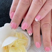 #ピンク #ピンクネイル #フレンチネイル #フレンチ #ミラーネイル #ミラー #emyu.nail #ネイルブック