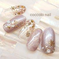 #雪の結晶ネイル#冬ネイル Instagram→coccolo_nail #冬 #coccolo_nail #ネイルブック