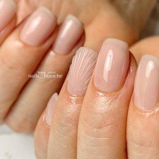 #ハンド #人魚の鱗 #ベージュ #ピンク #nails___blanche / yuka #ネイルブック