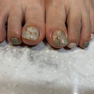 天然石  #nail  #naildesigns  #nailstagram  #天然石ネイル  #天然石アート #nature #群馬県ネイルサロン #オールシーズン #フット #大理石 #モノトーン #ペディキュア #お客様 #Ayu3 #ネイルブック