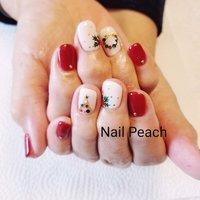 #クリスマスネイル #Nail Peach #ネイルブック