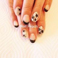 #星ネイル #Nail Peach #ネイルブック