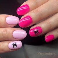 #ピンク #ピンクネイル #シンプルネイル #シャネルネイル #chanel #viensminon #ネイルブック