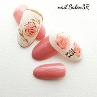 #薔薇ネイル #ハンド #フラワー #ピンク #ジェル #ネイルチップ #ミキ #ネイルブック