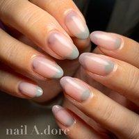 #nail #nails #naildesign #nailart #nailstagram #nailswag #nailsalon #nailaddict #ネイル #ネイルアート #ネイルデザイン #네일아트 #네일 #ハンド #シンプル #フレンチ #変形フレンチ #ミディアム #パープル #グレージュ #ジェル #nail A.dore #ネイルブック