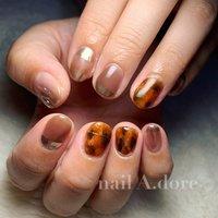 #nail #nails #naildesign #nailart #nailstagram #nailswag #nailsalon #nailaddict #ネイル #ネイルアート #ネイルデザイン #네일아트 #네일 #ハンド #ニュアンス #べっ甲 #ミラー #nail A.dore #ネイルブック