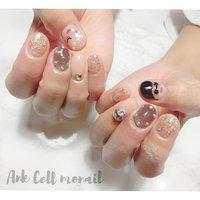 #アジョリーネイル #Ank Cell monail YURIKA #ネイルブック