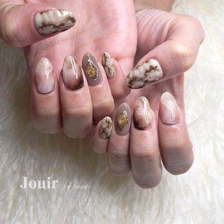 パイソン 🐍 #ハンド #アニマル柄 #大理石 #ニュアンス #レオパード #グレージュ #アースカラー #スモーキー #Jouir for beauty - hair nail eyelash- #ネイルブック