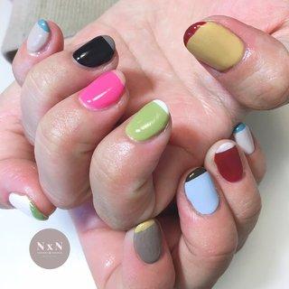 #バイカラー ぜーんぶ違う色でバイカラー♡ 初の試みだったそうで❤️ とっても可愛い😍  お客様の雰囲気に合わせて色味やデザインを考えるの得意です!是非お任せください! また、爪が薄い方や弱い方、アセトンがしみる方は一度ご相談ください!  #鳩ヶ谷 #自宅ネイルサロン #ジェル #アセトン使わない #ネイルデザイン #女子力アップネイル #女子力アップ#ぷっくりネイル#ちゅるんネイル #プライベートネイルサロン #鳩ヶ谷ネイルサロン #鳩ヶ谷ネイル #川口ネイルサロン #爪育成 #美爪 #丁寧な施術 #お子様連れok #おしゃれネイル #nailsalonN×N #nail #可愛いネイル #一層残しフィルイン #うるつやネイル #個性派ネイル #派手ネイル #カラフル #オールシーズン #ハンド #バイカラー #ミディアム #カラフル #ネオンカラー #ビビッド #ジェル #お客様 #nail salon N×N Nao #ネイルブック