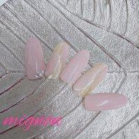 オフィスデザインです💅🏻 はだ馴染みのいいピンクなので シンプルに可愛いです #オールシーズン #オフィス #ブライダル #パーティー #ハンド #シンプル #ピンク #ジェル #お客様 #Mignon #ネイルブック