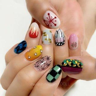 #鬼滅の刃#鬼滅の刃ネイル#痛ネイル#paragel#gelnails#Japanesnails#nailart#nailsalon#nails#instagood#nailstagram#notd#doll#dollnail#네일#네일살롱#젤네일#네일디자인#handdrawing#handpainted#ジェルネイル#ネイルデザイン#美甲片#美甲師#美甲#会津ネイル#手描きネイル#手描きアート#art#ongles#nagel#unghia#パラジェル#ルビケイト#ネイルサロン#ネイル#女子力 #オールシーズン #旅行 #ハロウィン #パーティー #ハンド #痛ネイル #ミディアム #スモーキー #カラフル #ビビッド #ジェル #お客様 #橋本実咲 #ネイルブック
