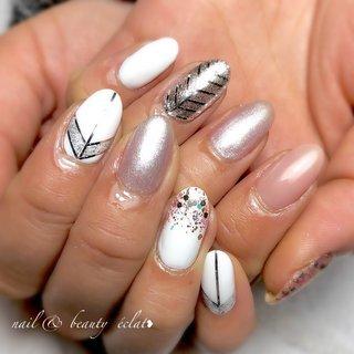 #ホロネイル#ラインテープ #nail & beauty éclat❥ #ネイルブック