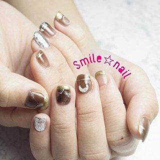 大田原定額ネイルサロン Smile☆nailのyukariです(*^^*) ブラウン系のニュアンスネイル💅早速仕入れた新色が活躍です✨ ご来店ありがとうございます😊 ☆,。・:*:・゚'☆,。・:*:・゚'☆,。・:*:・゚' HPはプロフィールのURLから☆ ご予約は#ネイルブック より 是非アプリをご利用下さい❤️ ☆,。・:*:・゚'☆,。・:*:・゚'☆,。・:*:・゚' ラクマでピアス ミンネでネイルチップを販売してます ٩( ᐛ )و  ネイルチップ→ミンネ https://minne.com/5116ykr (スマイルネイルで検索‼︎) ピアス→ラクマ https://fril.jp/shop/Smile_bijou (スマイルビジュー ネイリストで検索‼︎) ☆,。・:*:・゚'☆,。・:*:・゚'☆,。・:*:・゚' #smilenail #スマイルネイル #大田原市ネイルサロン #大田原市ネイル #大田原ネイルサロン #大田原ネイル #大田原定額ネイル #那須塩原ネイル #那須塩原ネイルサロン #ネイルサロン #西那須野ネイルサロン #お洒落ネイル #個性派ネイル #派手カワネイル #オーダーチップ #nailpicbeaut #美爪 #ミンネ #minne #nailbook #ネイリスト仲間募集 #ネイル好きな人と繋がりたい #ニュアンスネイル #ブラウンネイル #トレンドネイル #キラキラネイル #オールシーズン #デート #女子会 #ハンド #変形フレンチ #アンティーク #シースルー #大理石 #ニュアンス #ショート #ブラウン #ゴールド #シルバー #ジェル #お客様 #Smile☆nail #ネイルブック