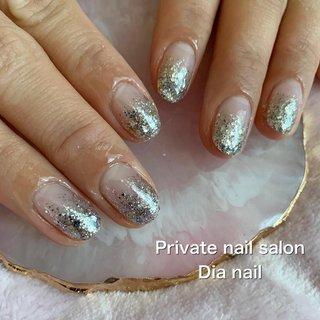 #クリスマス #オフィス #ハンド #グラデーション #ラメ #Private nail salon Dia nail #ネイルブック