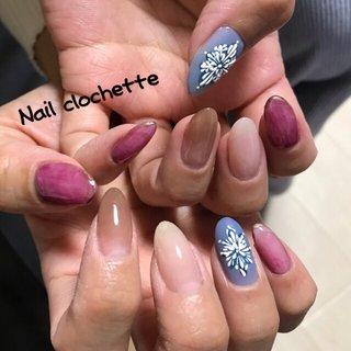#mynail #ゆきのけっしょう #ニュアンスアート #グラデーション #Nail clochette #ネイルブック