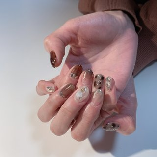 leopard #rosita nail #ネイルブック