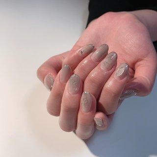 gray #rosita nail #ネイルブック