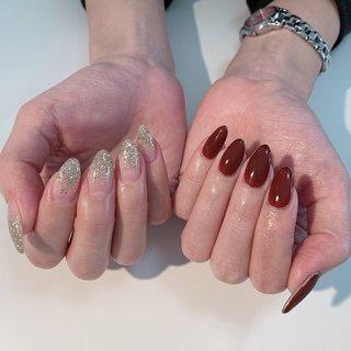 asymmetry #rosita nail #ネイルブック