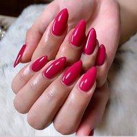 #ワンカラー #ローズピンク #ピンク #シンプル #ポイントネイル #Nail Salon MAHALO #ネイルブック