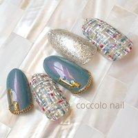 #ツイードネイル #coccolo_nail #ネイルブック