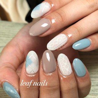 #ハンド #大人ネイル #nails #ニットネイル #マットネイル #Private Salon Leaf #ネイルブック