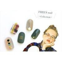 フリーアートコース ¥8,640 担当/クリエイターネイリスト 森本知誉 #FREE'Snail #ネイルブック