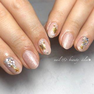 #クリスマスネイル#冬ネイル#雪ネイル #nail & beauty éclat❥ #ネイルブック